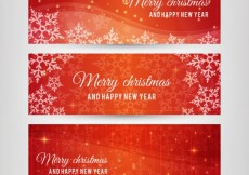 Free vector Christmas Red Banners Pack #26595