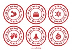 Free vector Christmas Rubber Stamp Set #24703