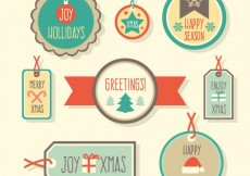 Free vector Christmas shopping labels #24284