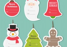Free vector Christmas Tags Collection #25839