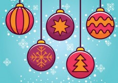 Free vector Christmas tree ball icons #25194