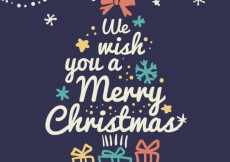 Free vector Christmas tree made of lettering #25405