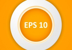 Free vector Circular orange button #26025