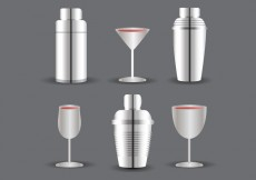 Free vector Cocktail Shaker and Glass Vector #24525