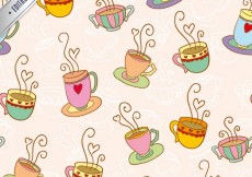 Free vector Coffee cups pattern #22226
