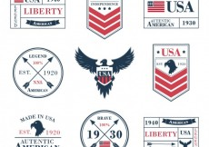 Free vector Collection of american labels #24518