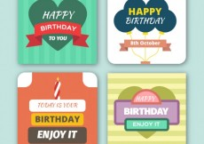 Free vector Collection of birthday cards #26132
