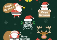 Free vector Collection of christmas badges #27051