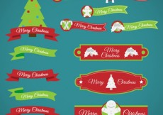 Free vector Collection of christmas labels #26573
