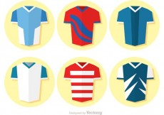 Free vector Collection Of Flat Soccer Uniform Vector #23737