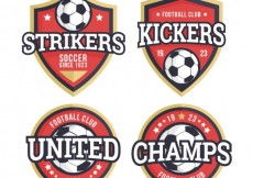 Free vector Collection of football badges #27136