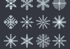 Free vector Collection of geometric snowflakes #27585