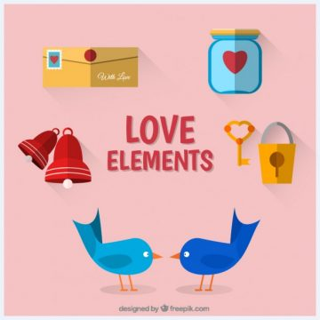 Free vector Collection of love elements #25513