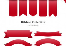 Free vector Collection of red ribbons #27800