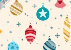 Free vector Colored baubles background #25110