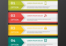 Free vector Colored infographic banners template set #26793