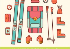 Free vector Colored winter essential icons #25301