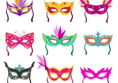 Free vector Colorful carnival masks collection #20822