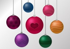 Free vector Colorful christmas balls background #27647