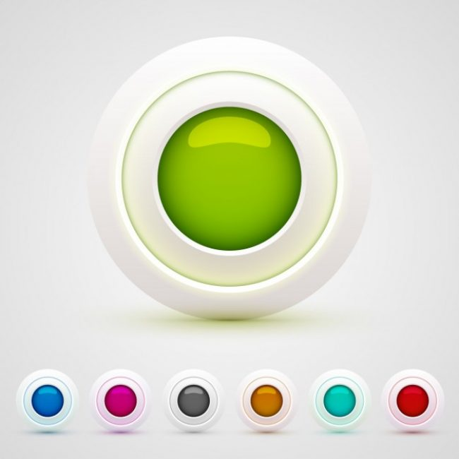 Free vector Colorful circular web buttons #25889
