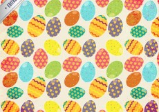 Free vector Colorful easter eggs pattern #21084