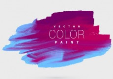Free vector colorful ink paint background template vector design #24570