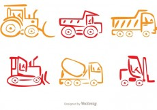 Free vector Colorful Line Dump Trucks Vector #27362
