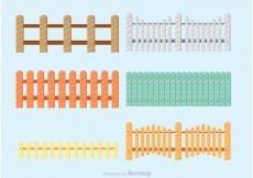 Free vector Colorful Picket Fence Vectors #23724