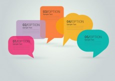 Free vector Colorful speech bubbles #20728