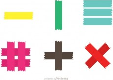 Free vector Colorful Sticky Tape Vectors #22773