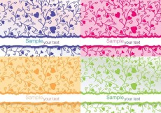 Free vector Colourful Flower Vector Cards #21095