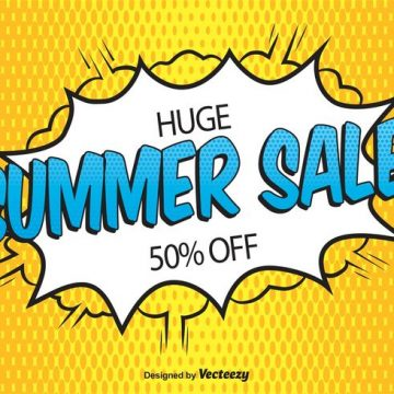 Free vector Comic Style Sale Background #21623