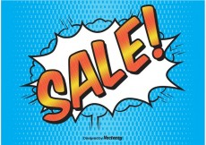 Free vector Comic Style Sale Background #21837
