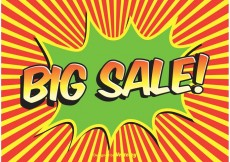 Free vector Comic Style Sale Background #22751