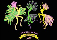 Free vector Costumes of feathers carnival #24422