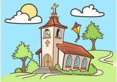Free vector Country Church Vector Drawing Free #22988