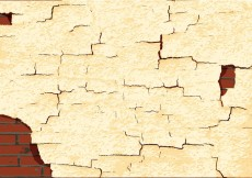 Free vector Cracked paint texture wall vector #25556