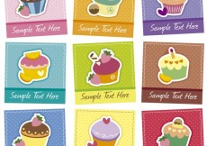Free vector Cupcakes template collection #27479