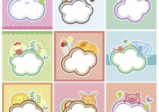 Free vector Cute animal cards collection #26691