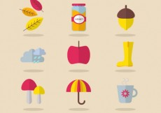 Free vector Cute autumn icons pack #25709