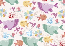 Free vector Cute background of sea world #26557