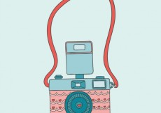 Free vector Cute camera in vintage style #21154