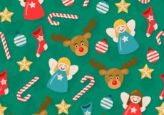 Free vector Cute christmas background #27631