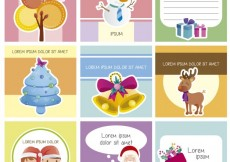 Free vector Cute christmas cards collection #26571