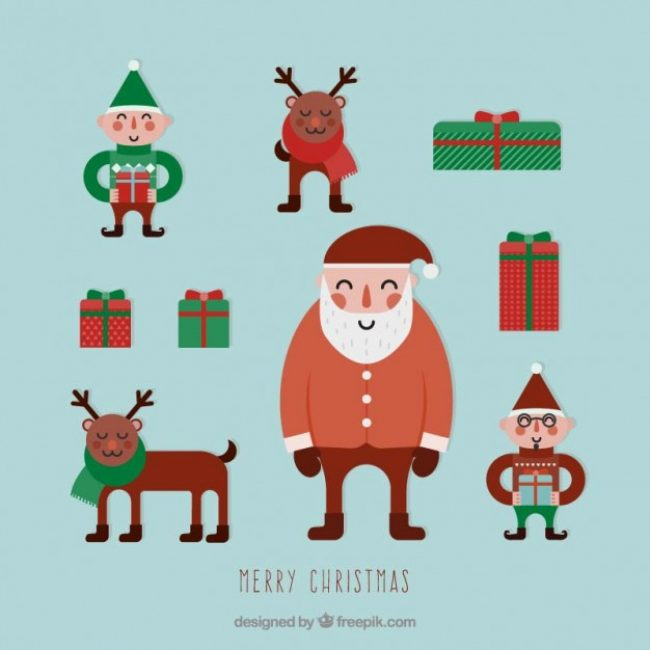 Free vector Cute christmas characters #28032