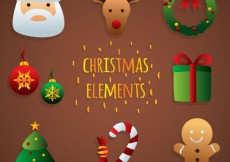 Free vector Cute christmas elements #25182