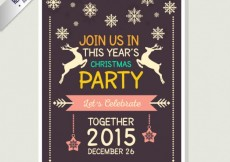 Free vector Cute christmas flyer #25379