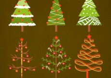 Free vector Cute christmas trees pack #25661