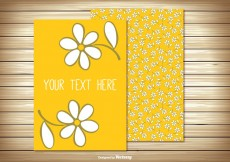 Free vector Cute Floral Greeting Card #26762