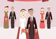 Free vector Cute just married couple #27293
